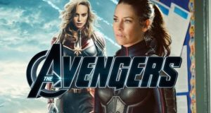 Brie-Larson-as-Captain-Marvel-and-Evangeline-Lilly-as-The-Wasp-with-Avengers
