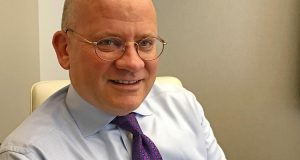 FILE PHOTO: General Electric CEO John Flannery is seen at the company's office in New York City