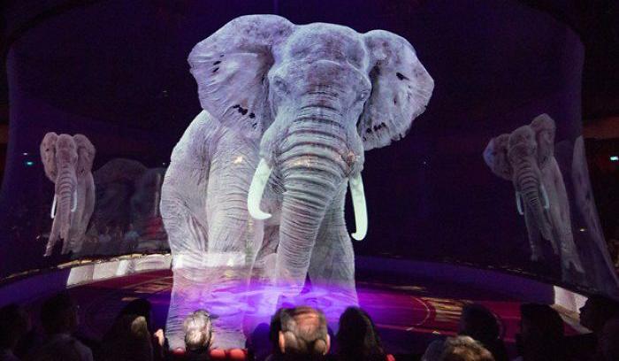 استفاده از هولوگرام به جای حیوانات واقعی در سیرک آلمان