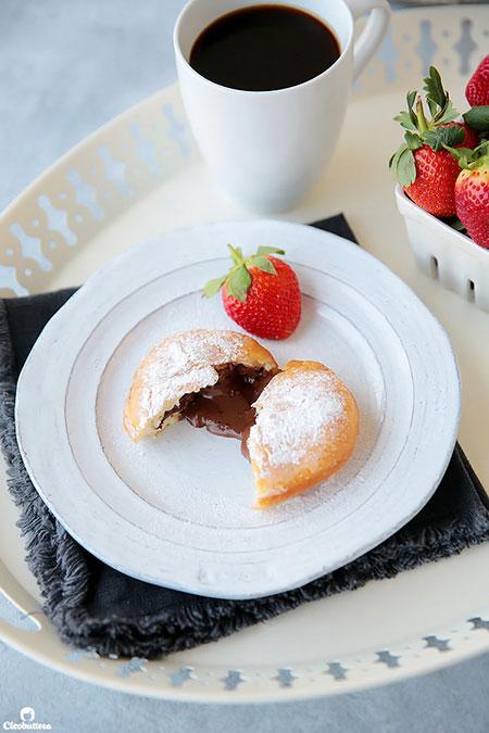 دونات مغزدار با شکلات صبحانه (پونچیک)