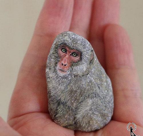 حیواناتی شگفت انگیز که از رنگ آمیزی سنگ ها ایجاد شده اند.